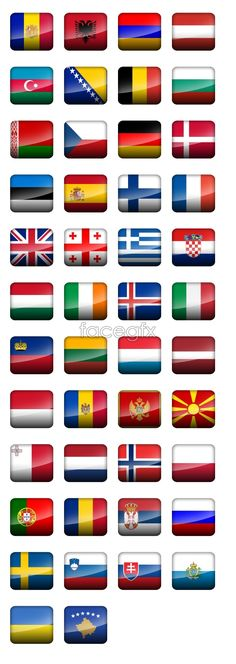 European countries flag icons