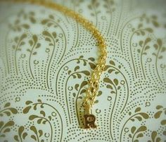WANT THIS!!! TINIEST GOLD INITIAL NECKLACE by verabel