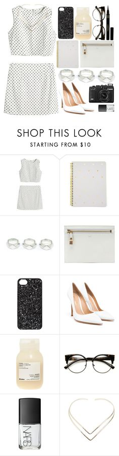 """""""Polka"""" by mhint ❤ liked on Polyvore featuring Sugar Paper, Tom Ford, Marc by Marc Jacobs, Gianvito Rossi, Davines, INDIE HAIR, NARS Cosmetics, Natalie B and Napoleon Perdis"""