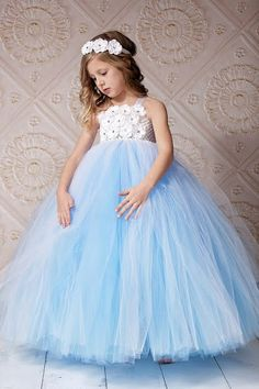 Flower Girl Tutu Dress  Choose Your Underlayer by DreamingInBlush, $105.00