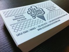 letterpress business card by The Mahoney Studio
