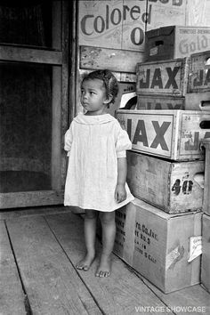 Old Vintage Photo of Little African American black girl - Negro - Small Child…
