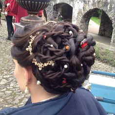 Closer look at my hair for TV series Da Vinci's Demons - character of Clarice Orsini