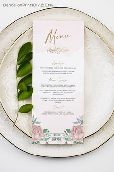 Introducing ROSE, the perfect romantic blush menu card for a special day.#pinkwedding #blushwedding #weddingmenu Wedding Menu Cards, Wedding Stationary, Wedding Invitations, Pocket Invitation, Invitation Kits, Diy Wedding Templates, Menu Card Template, Stationery Templates, Blush And Gold