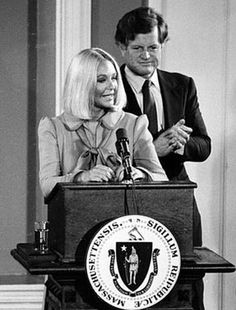 Joan, when Ted tried to run for President.
