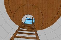 Plans, croquis, 3ds et projets - Superadobe France Small House Kits, Kit Homes, Plans, Backyard, Construction, Fire, Mirror, Decor, Sketch