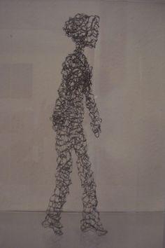 Promenade - Spaziergang, fil de fer - Draht, 32 cm, 2013
