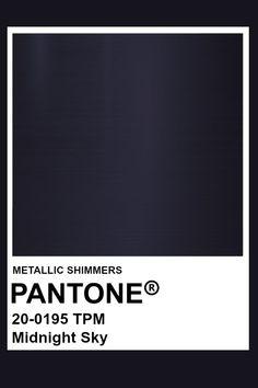 Pantone Navy, Pantone Color, Aesthetic Galaxy, Pantone Swatches, Midnight Sky, Textiles, Beautiful Color Combinations, Fade To Black, Colour Board
