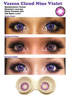 Color Contacts for Dark Eyes | Vassen Cloud Nine Violet sponsored review by Shoppingholics.com