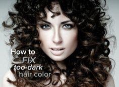 Was tun wenn die Haarfarbe nach dem Färben zu dunkel ist?