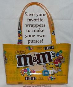 Large Snack Wrapper Purse instruction guide (printed booklet -Postal delivery) DIY tutorial to make novelty purses using recycled wrappers Candy Wrapper Purse, Candy Wrappers, Diy Bags Purses, Diy Purse, Feed Sack Bags, Pick Up, Sewing Tutorials, Sewing Projects, Bag Tutorials
