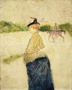 Henri de Toulouse-Lautrec (French, 1864–1901). Émilie, late 1890s. The Metropolitan Museum of Art, New York. The Lesley and Emma Sheafer Collection, Bequest of Emma A. Sheafer, 1973 (1974.356.35) #horse