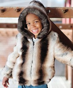 aa43ae0b9e3a Donna Salyers  Fabulous-Furs Ivory Faux Chinchilla Furry Parka - Toddler. Faux  Fur ParkaFaux Fur JacketChildrens ...