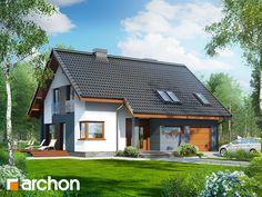 Dom w miodokwiatach Unique House Plans, Design Case, Planer, Sweet Home, House Design, Villa, Mansions, House Styles, Home Decor