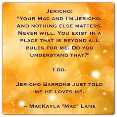 "Jericho Barrons and MacKayla ""Mac"" Lane (ShadowFever by Karen Marie Moning - Fever Series)"