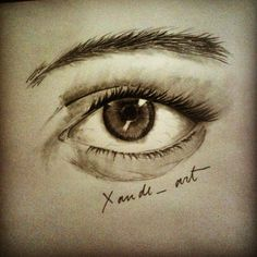 Eye! Pencils,blending and canson.