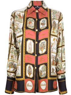 ETRO VINTAGE Printed Silk Shirt
