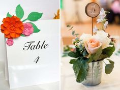 Spring-inspired Table Numbers - 35 Most Appealing Wedding Table Number Ideas - EverAfterGuide