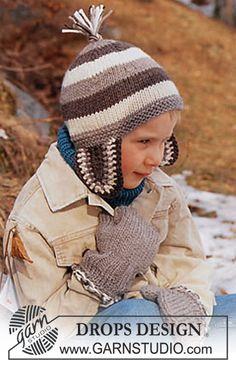 Bonnet et Moufles DROPS en Alaska ~ DROPS Design