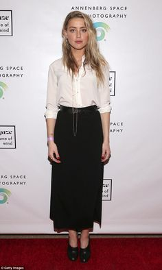 Magnificent: Amber Heard, 30, was her gorgeous self as she attended#girlgaze: a frame of ...
