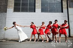 Adorable bridal party photo by http://butterstudios.ca! | Wedding planned by http://wishevents.ca Hair & makeup by http://jaynamarie.com