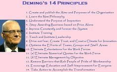 THE DEMING'S PHILOSOPHY Dr. Edward-Deming was a protege of Dr. Walter Shewhart, who pioneered statistical process control (SPC) at Bell Laboratories. Statistical Process Control, Quality Quotes, Kaizen, My Images, Philosophy, Me Quotes, Leadership, Image Search, Engineering