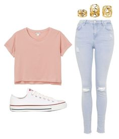 """""""Outfit Idea by Polyvore Remix"""" by polyvore-remix ❤ liked on Polyvore featuring moda, Converse, Charlotte Russe, Monki y Topshop"""