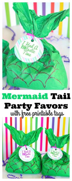 Mermaid Party Favors #mermaidparty #partyfavor #partydiy #summerparty #mermaidcraft #crafts