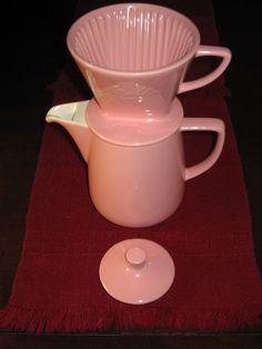 Vintage Melitta Ceramic Coffee Maker pink #Melitta