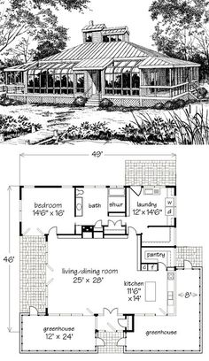 "Excellent ""greenhouse plans design"" information is readily available on our site. Check it out and you wont be sorry you did. # greenhouse plans design The Noble Home Dream House Plans, Small House Plans, House Floor Plans, Courtyard House Plans, Home Greenhouse, Greenhouse Ideas, Greenhouse Gardening, Cottage Plan, Cottage House"