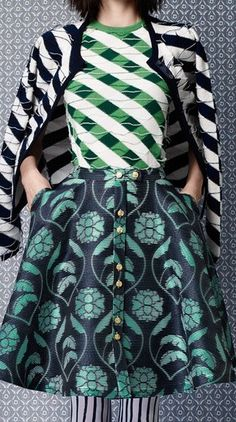 Thom Browne Resort 2014 Friday Favorites lc lauren conrad Mother of Pearl Resort 2014 Trunkshow Look 2 - Moda Operandi Outfit Estilo Fashion, Look Fashion, Fashion Details, Fashion Models, High Fashion, Fashion Design, Crazy Fashion, Fashion Shoes, Womens Fashion