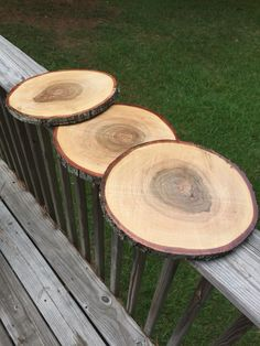 These beautiful rustic wedding centerpieces are perfect for decor at a rustic wedding or baby shower! The wood slices come treated with 2 coats of polyurethane to help preserve them for future uses! Available in my shop!