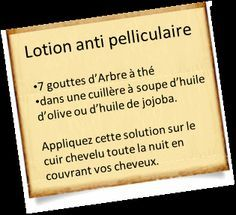 shampoing anti pelliculaire et lotion