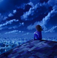 Illustrations, Illustration Art, Journey, Lucid Dreaming, Blue Art, Night Skies, Shades Of Blue, Amazing Art, Fantasy Art