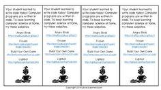 HOUR OF CODE FREE PRINTABLE BOOKMARKS - TeachersPayTeachers.com