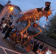 Macnas Parade 2011 Galway Ireland, Art Festival, St Patricks Day, Wearable Art, Fair Grounds, Street, Travel, Image, Theatre