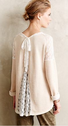 lace pullover (could do this with any Goodwill sweater)