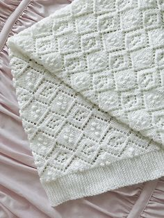 Thine Receiving Blanket Free Baby Knit Pattern