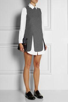 J.W.Anderson | Neoprene-effect wool-blend mini dress http://rstyle.me/n/bfsc9xpv