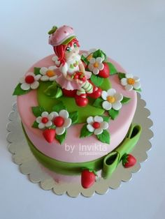 Strawberry Shortcake cake By Invikta on CakeCentral.com