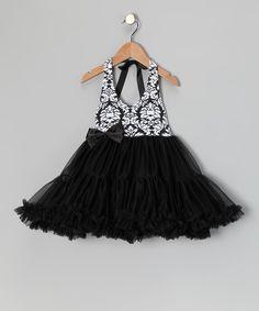 Black Tulle Damask Toddler Dress Zulily Sale!