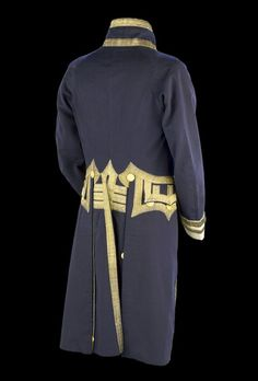 The back of the admiral dress coat, 1812.