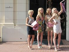Host your bachelorette party at an upscale hotel, like The Andaz Hotel in San Diego, CA and wear short print and solid dresses.   -11 Bachelorette Party Ideas For A Classy Girl's Night Out | Nubry - San Diego's #1 Fashion, Beauty, Events And Lifestyle Blog - What To Wear, Insider Tips, & Celebrity Trends