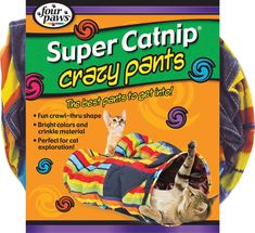 Four Paws Products Ltd-Crazy Pants Cat Tunnel- Multicolored