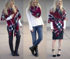 styling a blanket scarf 3 ways