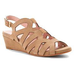 Taryn Rose Women's Shel Wedge Sandal, Peanut, 8.5 M US ** Click image for more details.