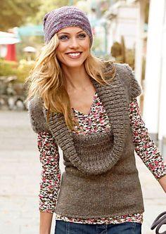 Cheer Kurzarm-Pullover mit halsfernem Rollkragen im Universal Online Shop