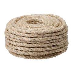 Everbilt 1/4 in. x 50 ft. Sisal Rope Natural  Model # 17979 Internet # 202079612 Store SKU # 140910    $5.58 /EA-Each