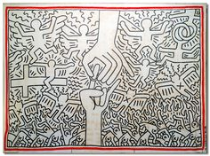 frankiethebaron:  'The Marriage of Heaven and Hell', 1984 ©Keith Haring…