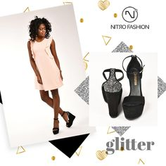 We glitter ! Leather platforms find them! Platforms, Peplum Dress, Spring Summer, Glitter, Leather, Dresses, Fashion, Vestidos, Moda